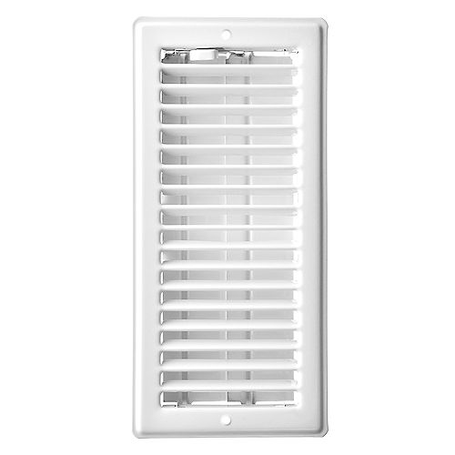 3 inch x 10 inch Ceiling Register - White