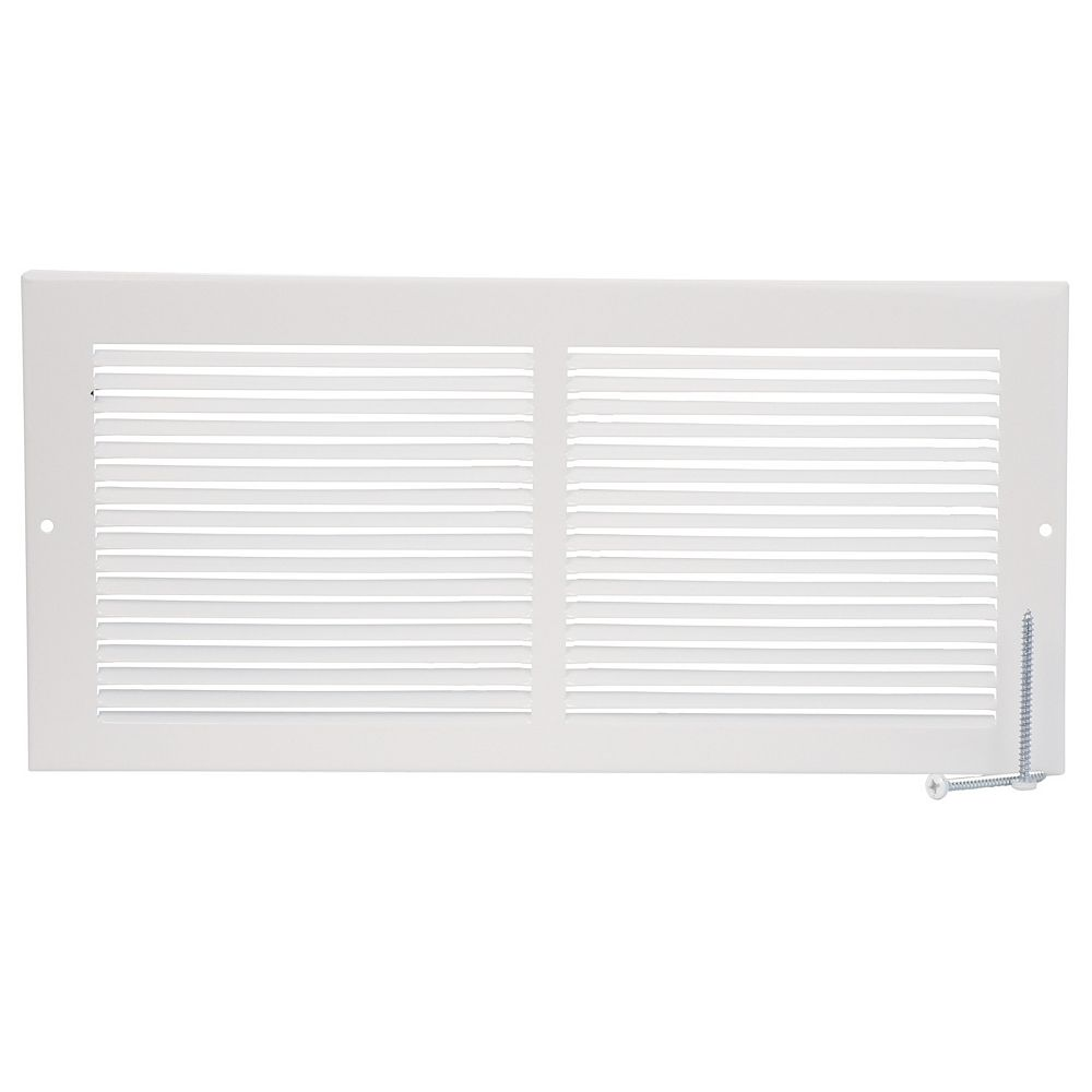 HDX 14 inch x 6 inch Baseboard Return Air Grille - White