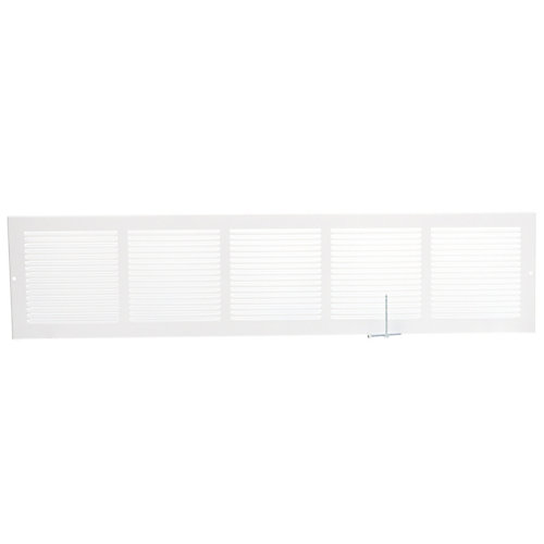 30 inch x 6 inch Baseboard Return Air Grille - White