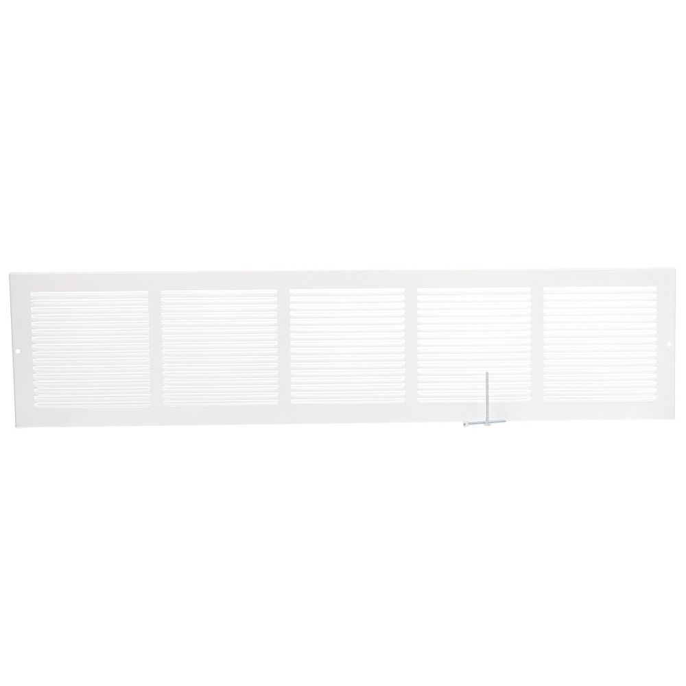 HDX 30 inch x 6 inch Baseboard Return Air Grille - White