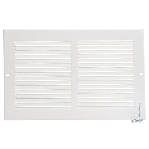 10 inch x 6 inch Sidewall Grille - White