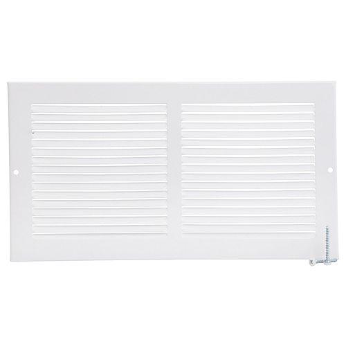 12 inch x 6 inch Sidewall Grille - White