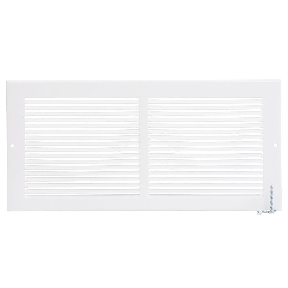HDX 14 inch x 6 inch Sidewall Grille - White