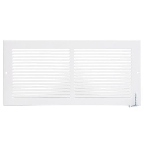14 inch x 6 inch Sidewall Grille - White
