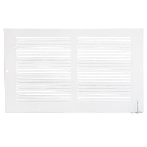 14 inch x 8 inch Sidewall Grille - White