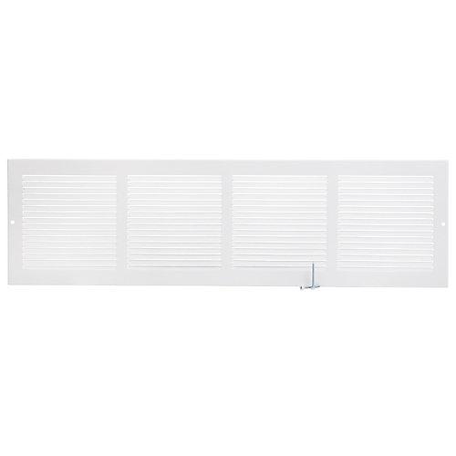 24 inch x 6 inch Sidewall Grille - White