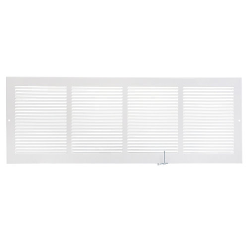 24 inch x 8 inch Sidewall Grille - White