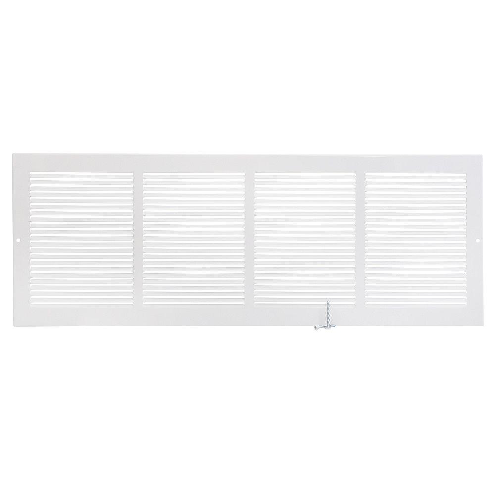 HDX 24 inch x 8 inch Sidewall Grille - White