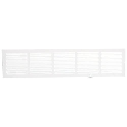 30 inch x 6 inch Sidewall Grille - White