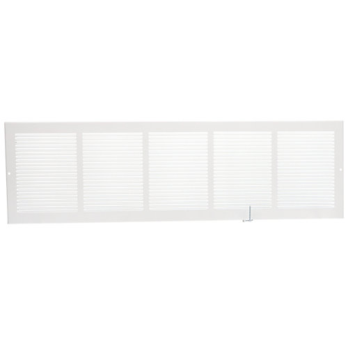 30 inch x 8 inch Sidewall Grille - White