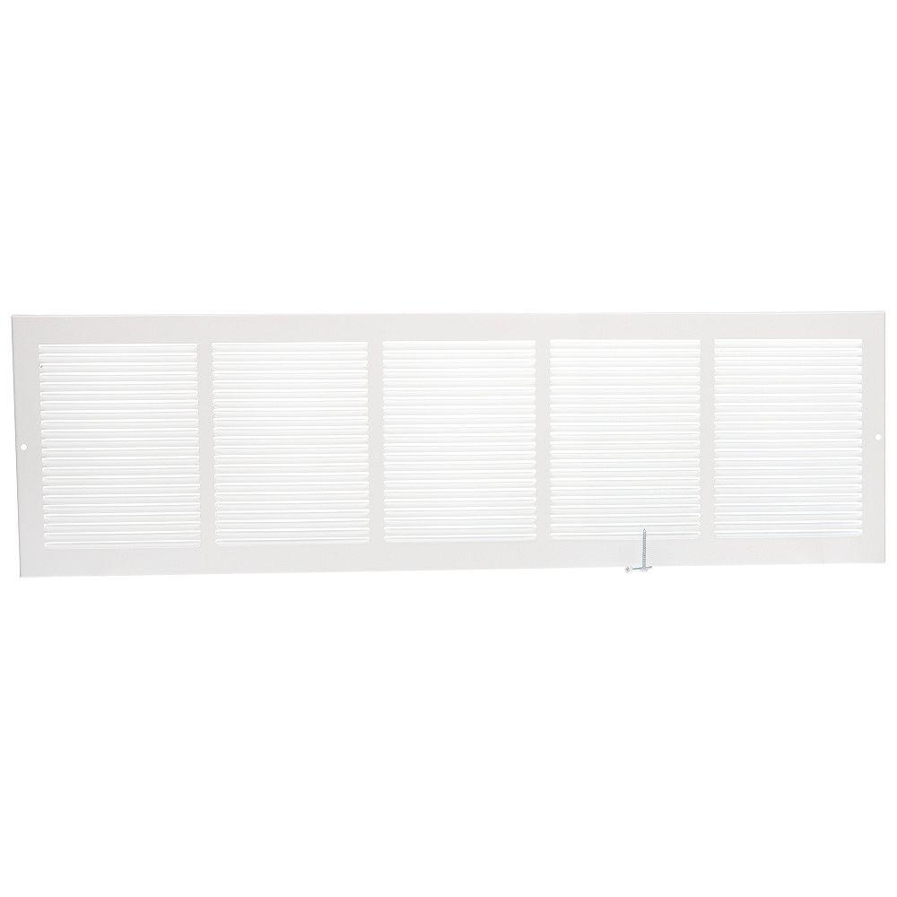 HDX 30 inch x 8 inch Sidewall Grille - White