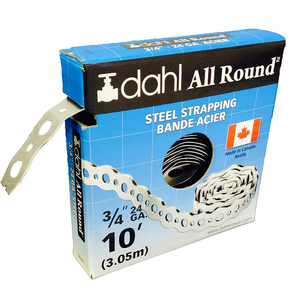 Dahl All Round Strapping, Steel, 24Ga 3/4-inch x 10 Feet