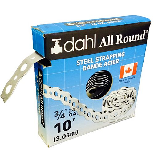 All Round Strapping, Steel, 24Ga 3/4-inch x 10 Feet
