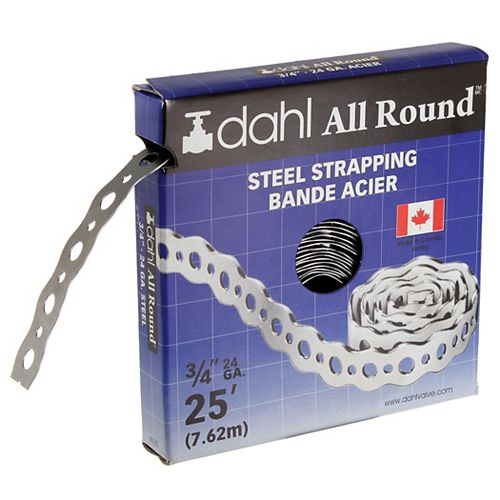 All Round Strapping, Steel, 24 Gauge, 3/4 inch x 25 feet