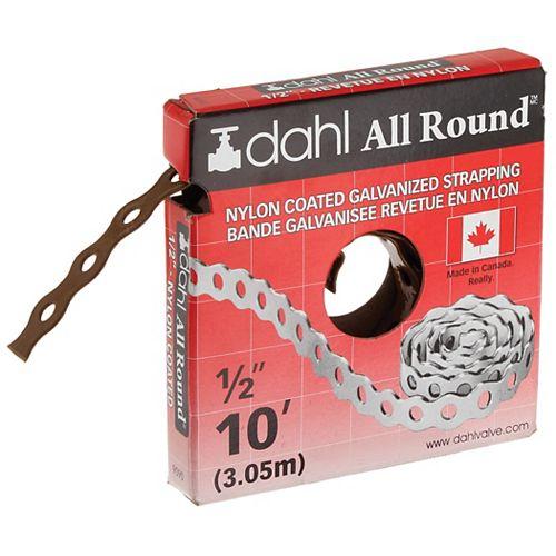 "Feuillard All-Round, Nylon enduit, 1/2"" x 10'"