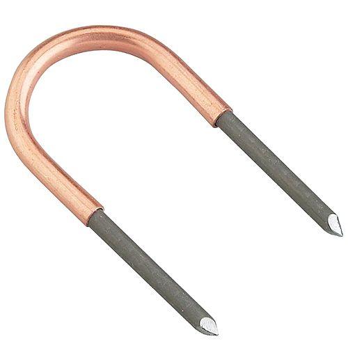 1/2 Inch Copper U-Clips, 100 Per Bag