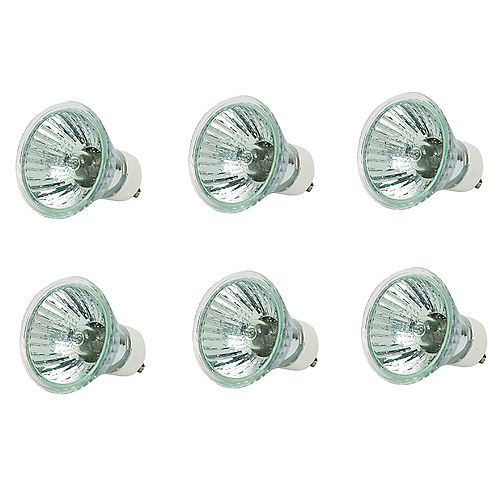 50W Halogen GU10 Flood Light Bulb (6-Pack)