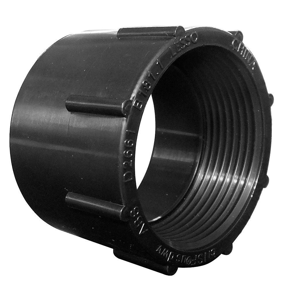 LESSO 1-1/2 In. ABS Female Adapter Hub x FIPT