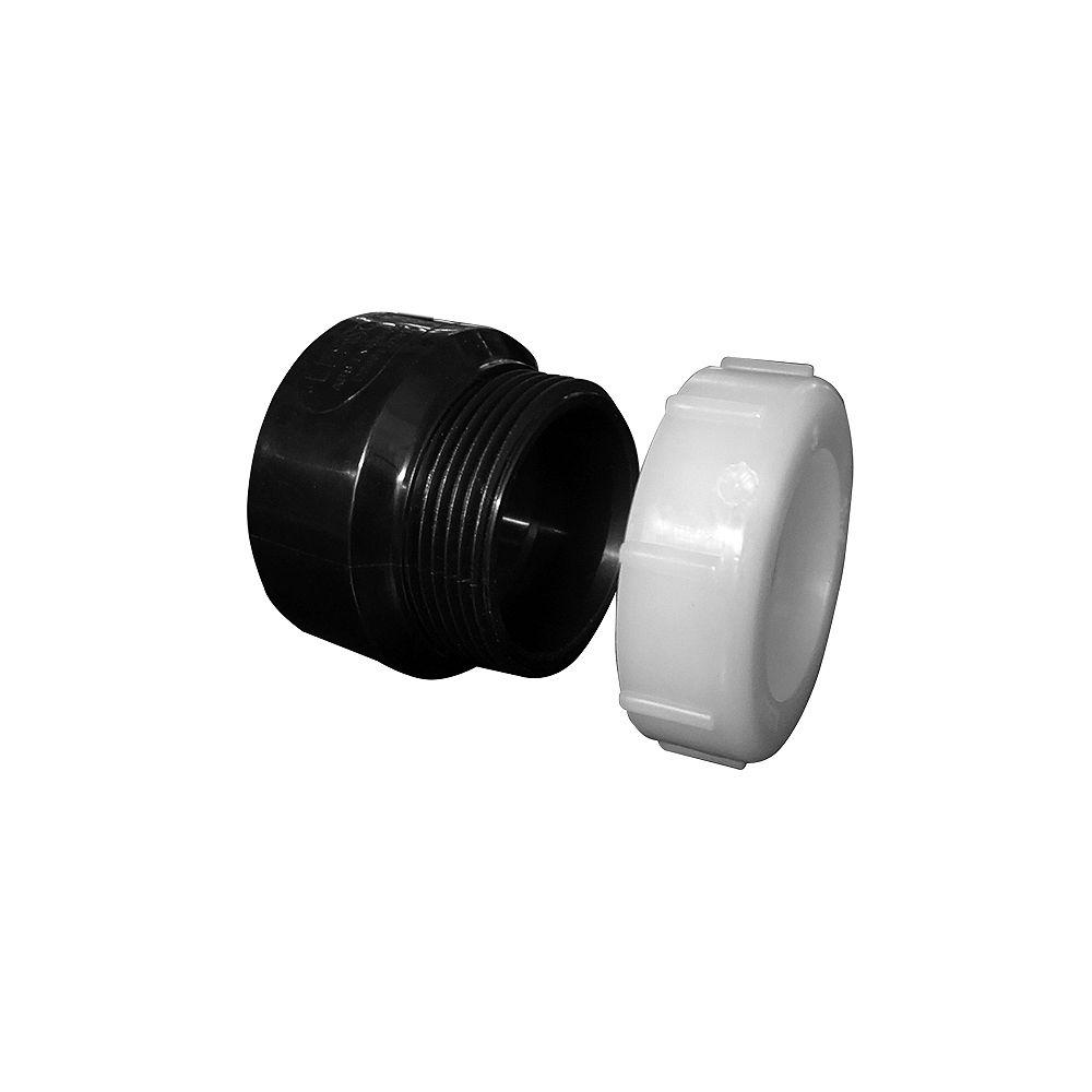 LESSO ABS DWV 1-1/2 Trap Adapter Hub x SJ