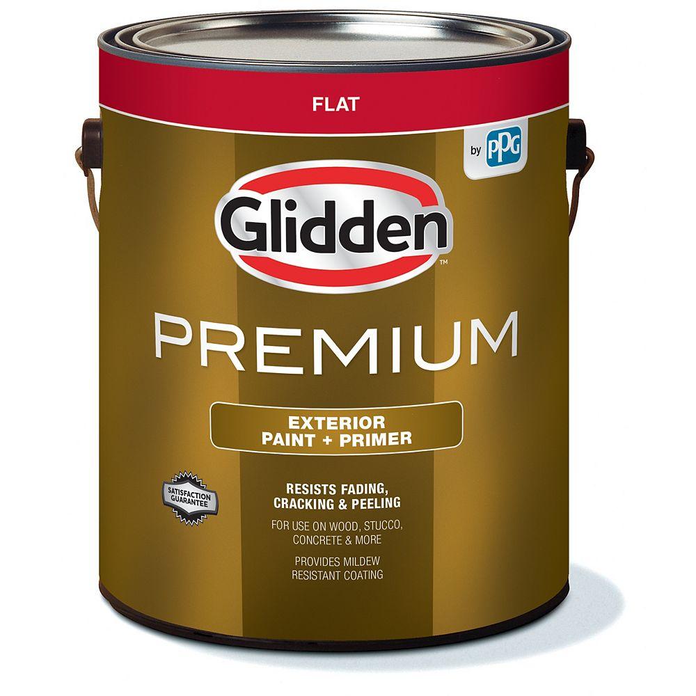 Glidden Premium Exterior Paint + Primer Flat - White 3.7 L