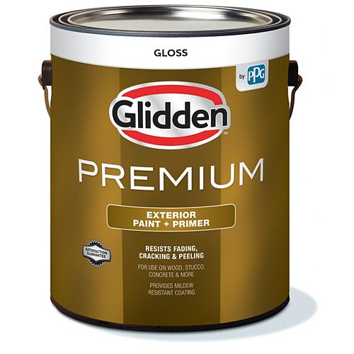 Exterior Paint + Primer Gloss - White 3.7 L
