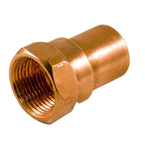 Fitting Copper Female Adapter 1/2 Inch x 1/4 Inch Copper To Female