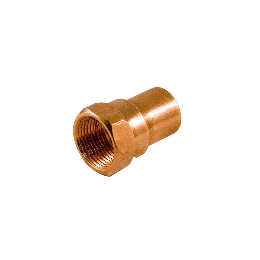 Aqua-Dynamic Fitting Copper Female Adapter 3/4 Inch x 1/2 Inch Copper To Female