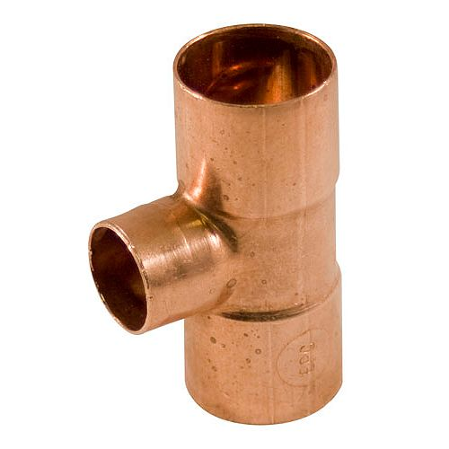 Fitting Copper Tee 3/4-inch x 1/2-inch x 3/4-inch Copper To Copper To Copper