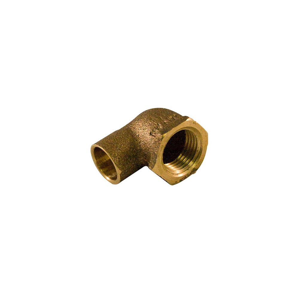 Aqua-Dynamic Fitting Cast Brass 90 Degree Elbow 1/2 x 3/4 Inch Copper To Female