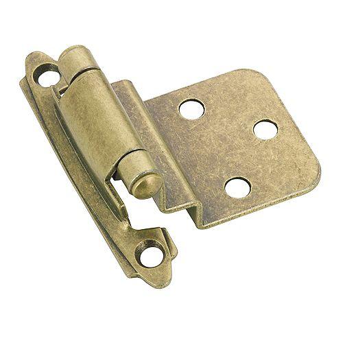 Semi-Concealed Self Closing Hinge - Antique Brass