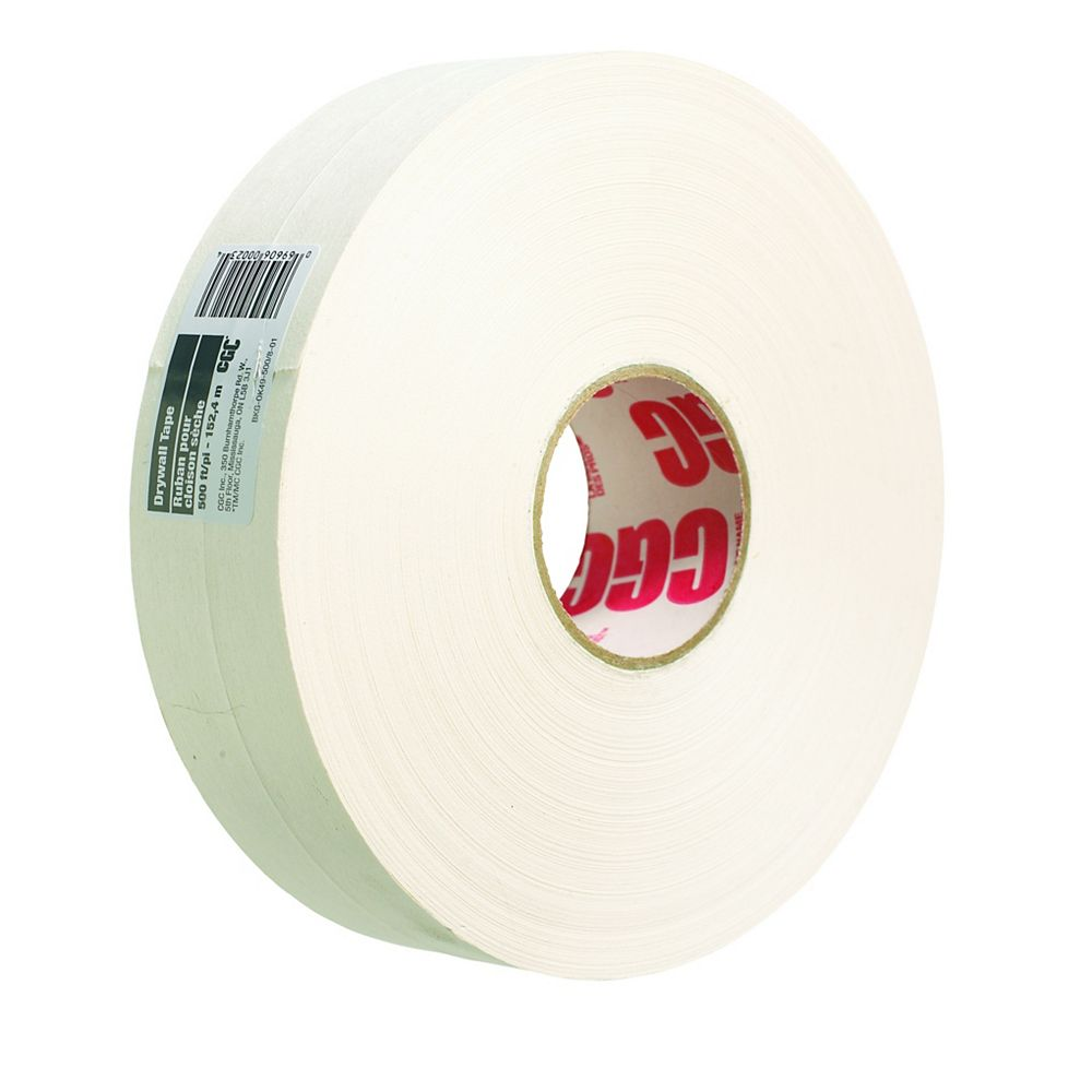 CGC Sheetrock Drywall Paper Joint Tape, 2-1/16 in x 500 Ft. Roll
