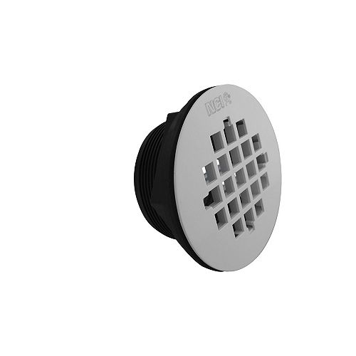 ABS Shower Drain White Grid SlipFit