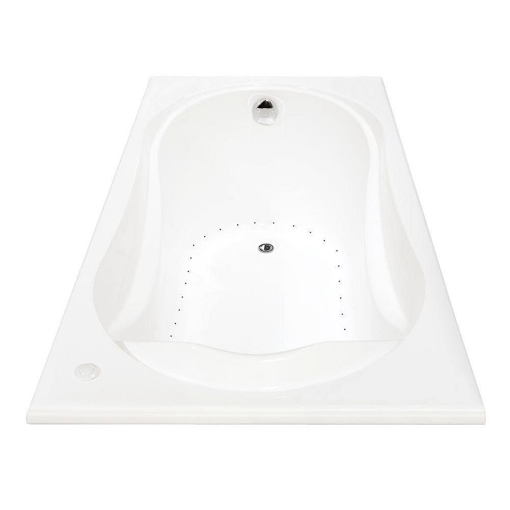 Maax Cocoon Acrylic Aerosens Bathtub In White The Home Depot Canada