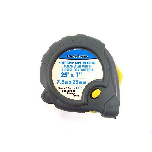 "Soft Grip Tape Measure 25' X 1"""