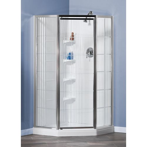 Lila 1-Piece French Shower Stall in White