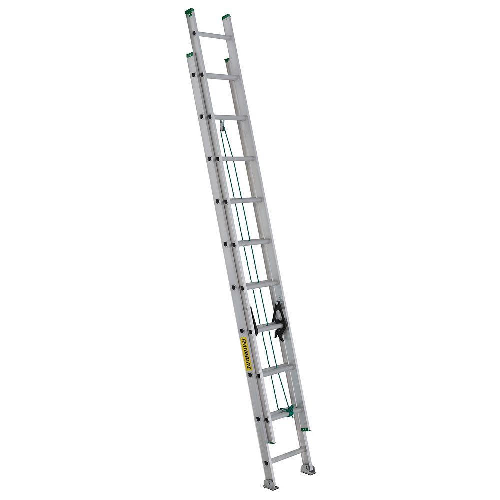Featherlite aluminum extension ladder 20 Feet  grade II