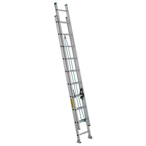 échelle coulissante en aluminium 20pi grade II