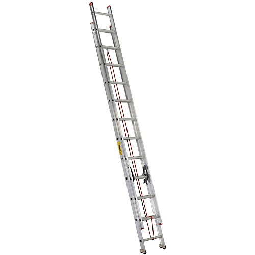 Featherlite 24 ft. Aluminum Multi Section Extension Ladder with 200lb. Load Capacity Type 3 Duty Rating