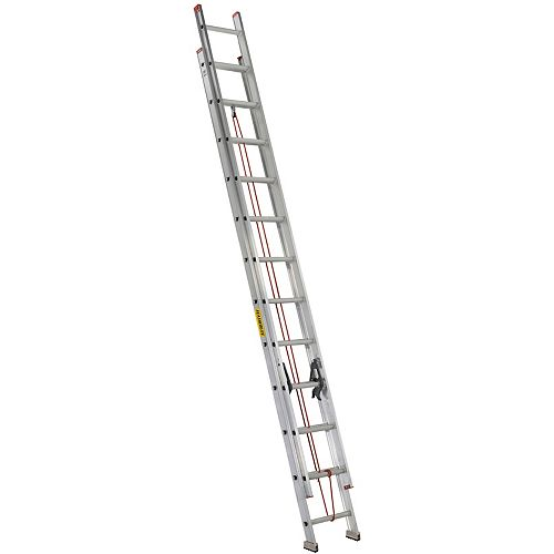 Featherlite Featherlite 24 ft. Aluminum Multi Section Extension Ladder with 200lb. Load Capacity Type 3 Duty Rating