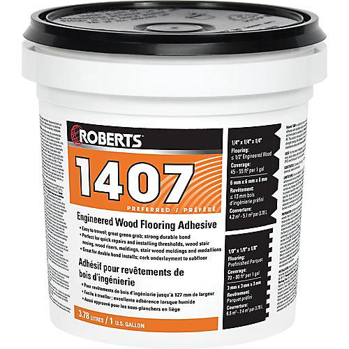 1407, 3.78L Acrylic Urethane Adhesive for Engineered Wood Floors