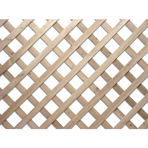 HDG 4 Feet x 8 Feet Western Red Cedar Lattice