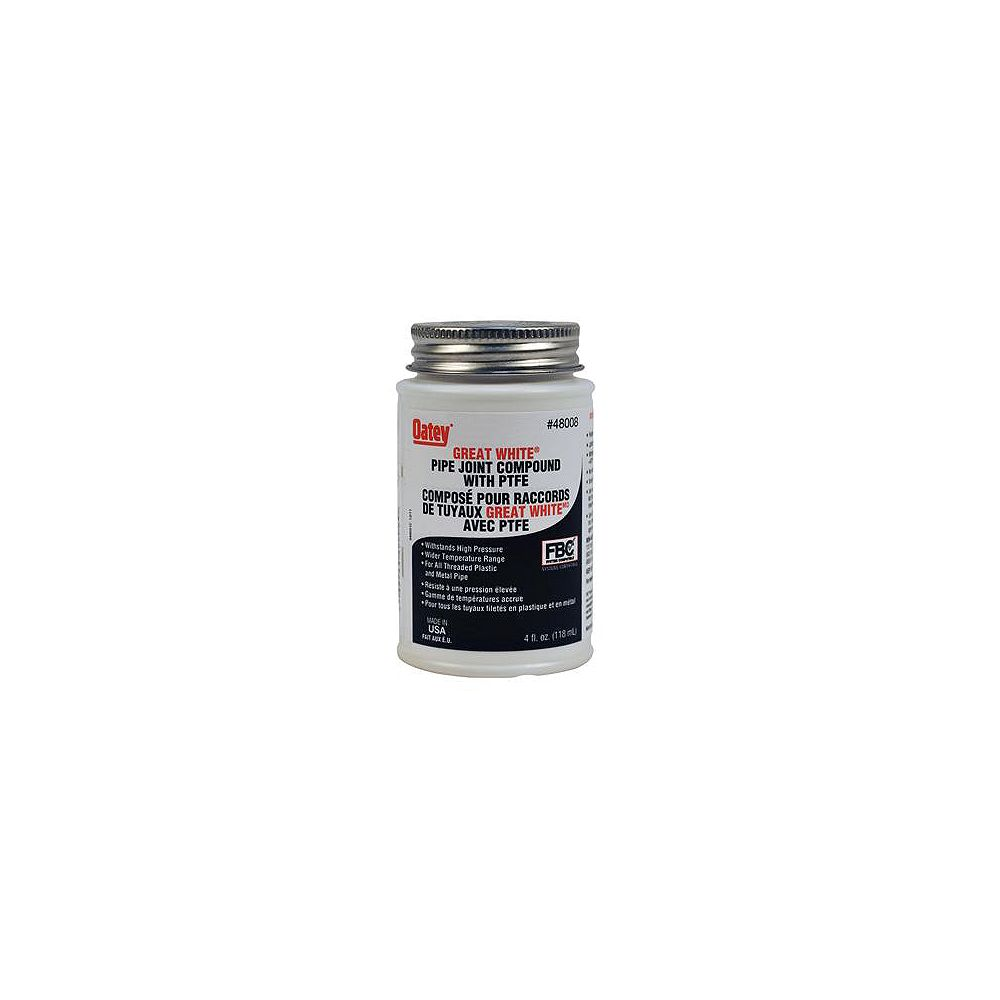 Oatey 4 Oz White Pipe Joint Compound The Home Depot Canada
