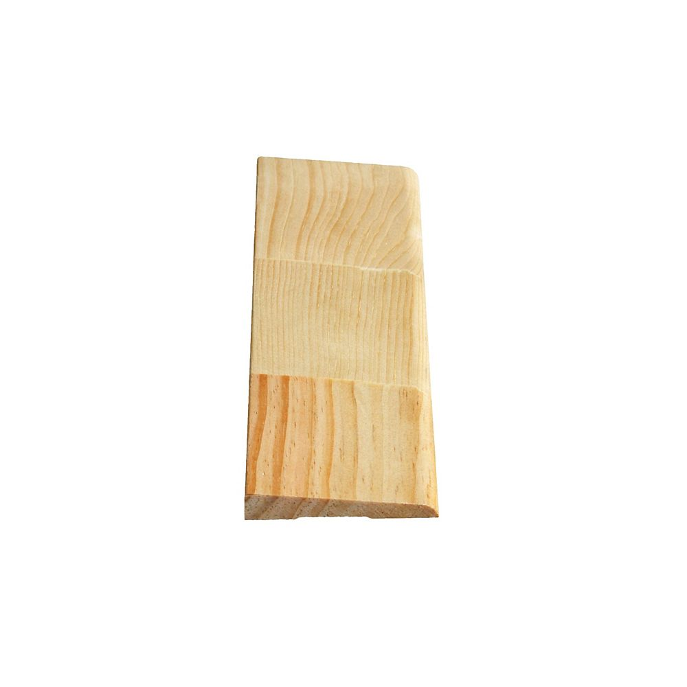 Alexandria Moulding Finger Jointed Pine Bevel Casing 7 16 In X 2 1 2 In Price Per Linea The Home Depot Canada