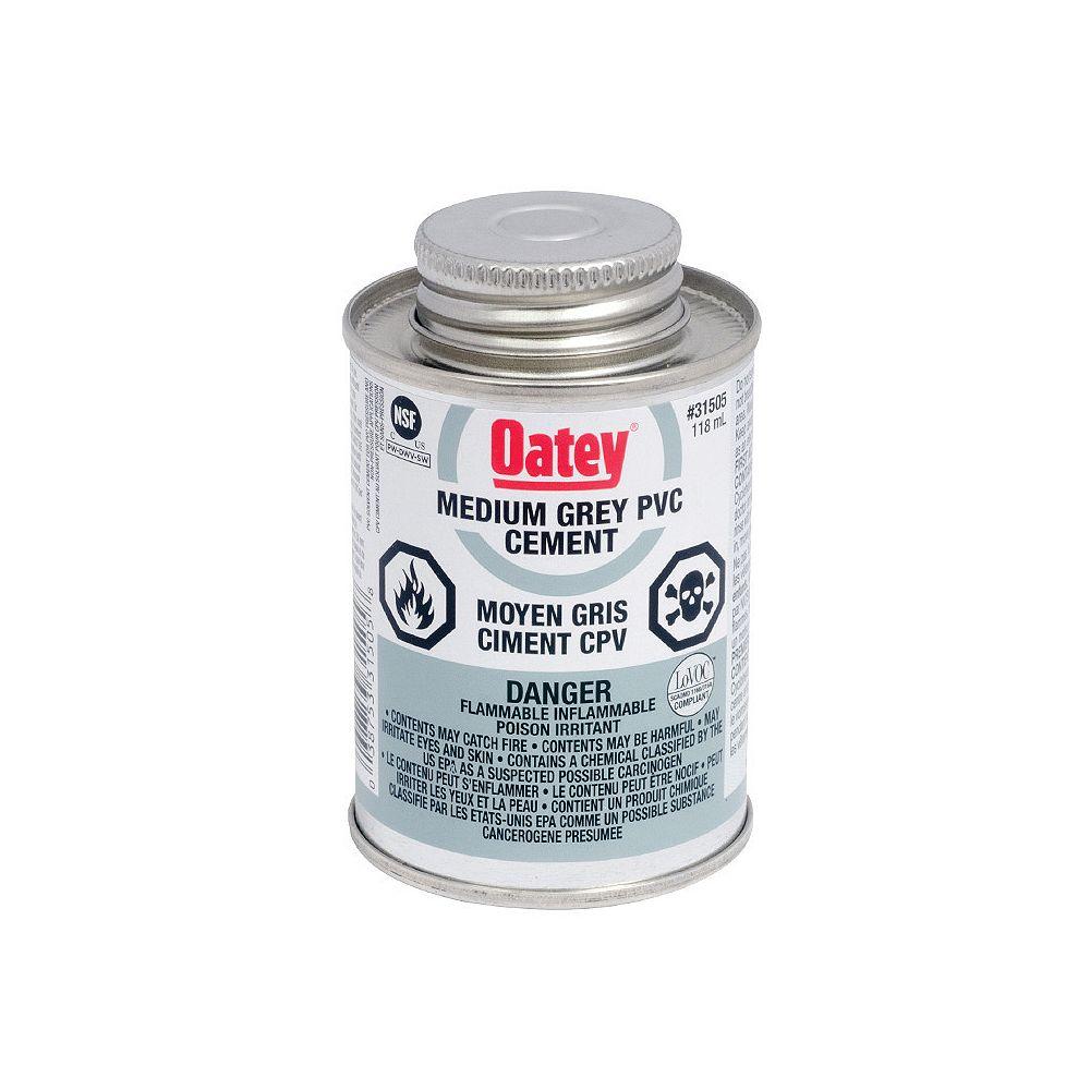 Oatey 118 Ml Pvc Cement Medium Gray (C)