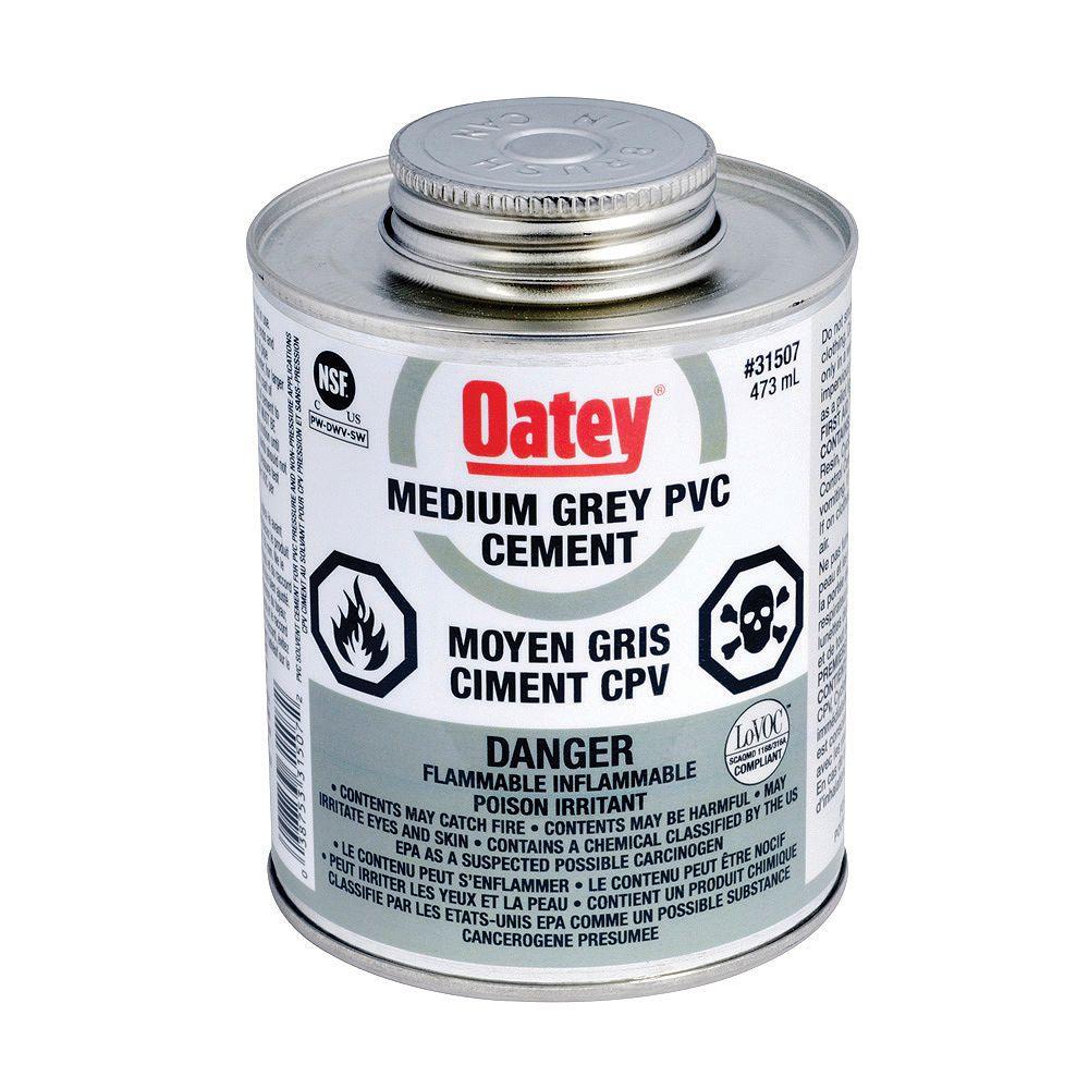 Oatey CIMENT CPV GRIS MOYEN DE 473 ML (C)