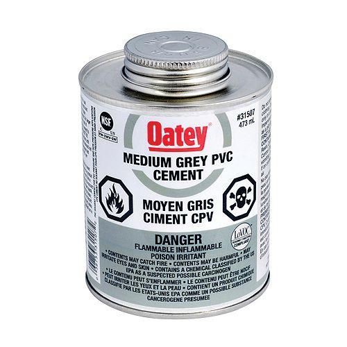 473 Ml Pvc Cement Medium Gray (C)