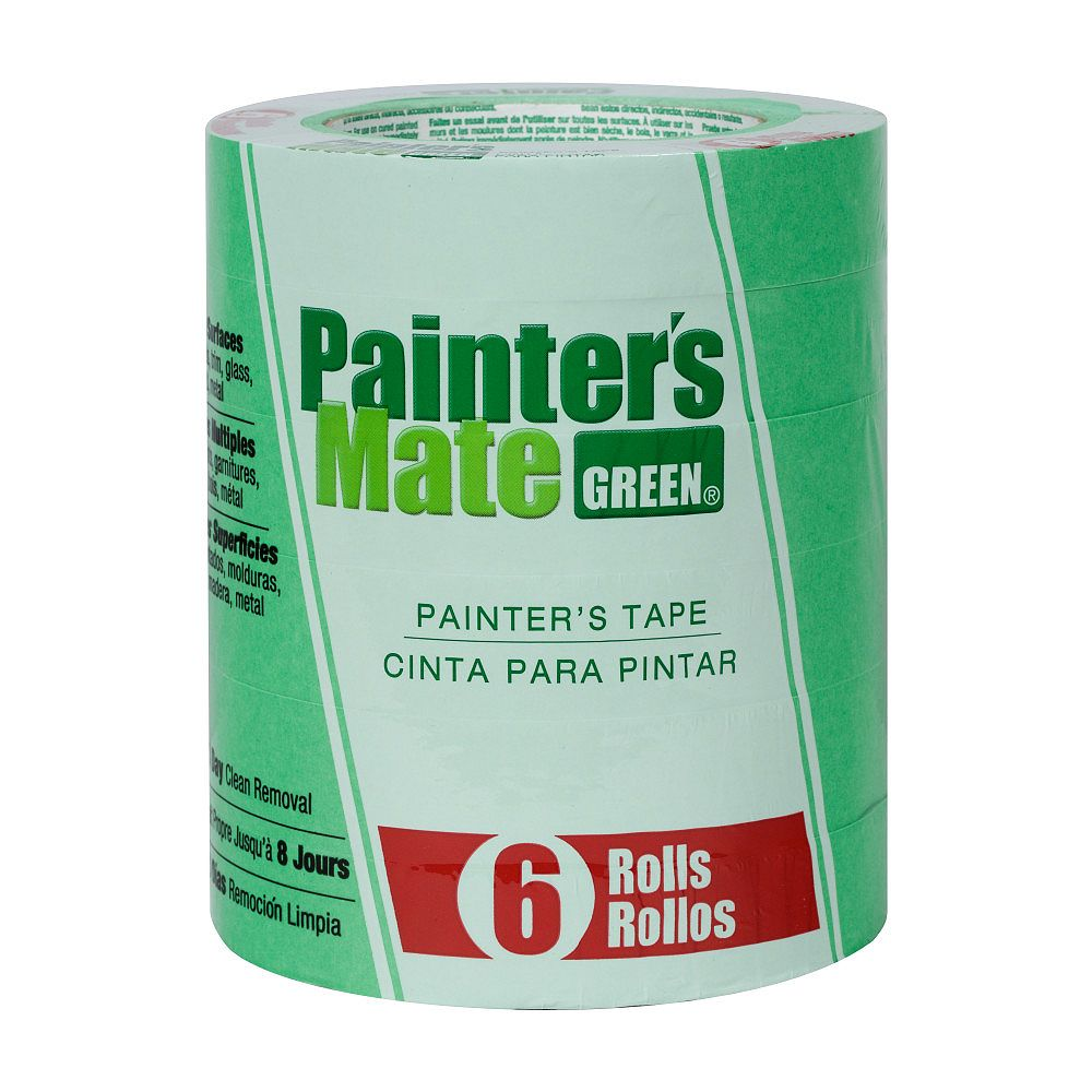 Painter's Mate Green Painter's Tape, .94 inch x 60 yds., Green (6-Pack)