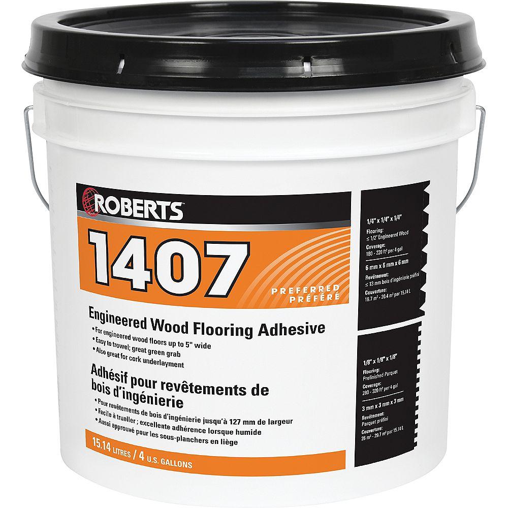 Roberts 1407 Adhésif à Base d'Uréthane Acrylique pour Bois d'Ingénierie, 15L