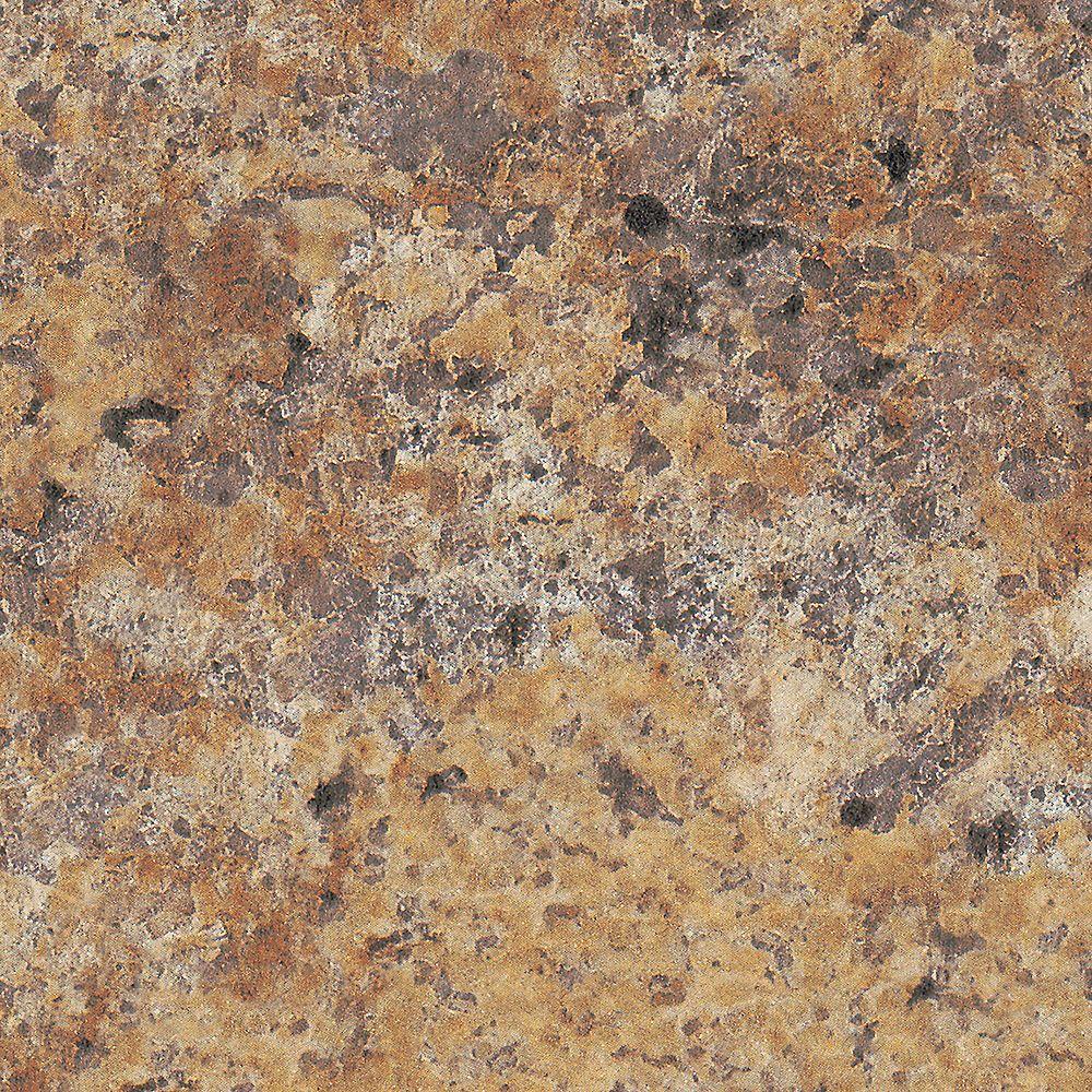 Formica Canada Granite Butterum 4 pi. x 8 pi. Feuille de Stratifié en Fini Etchings