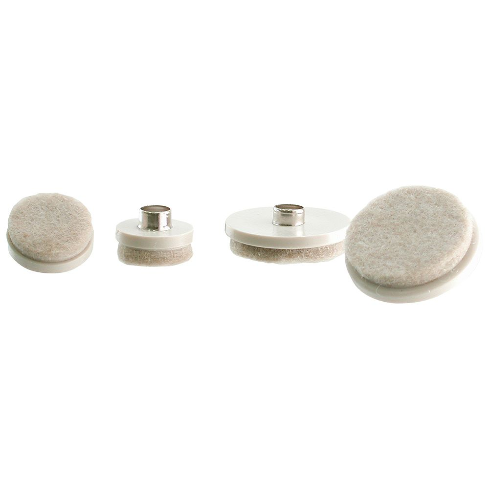 Everbilt Assorted Beige Nail-on Glides with Felt Pad Base (20-Pack)
